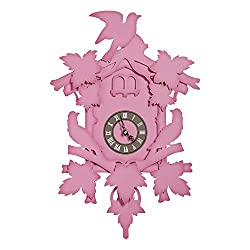 FunDeco Cuckoo Clock, Fuchsia, Large