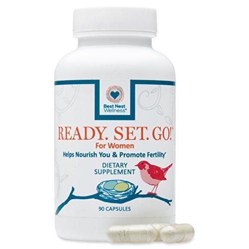 Ready. Set. Go! Best Nest Fertility Formula for Women | Methylfolate, Methylcobalamin, Antioxidants, Herbal Fertility Blend & Women's Prenatal Nutrition, 30 (Wellness Set)