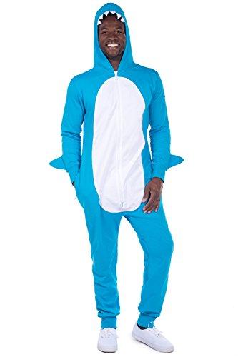 blue adult shark costume - 7