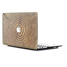 """Macbook Pro 15 Retina Case, L2W Wood Texture Pattern Coated Plastic Hard Case Cover for 15-inch MacBook Pro with 15.4"""" Retina Display (Model: A1398) - WM-15"""