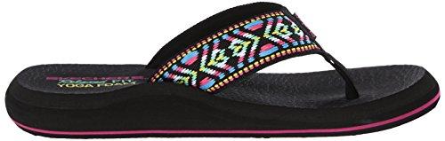Skechers Asana, Chanclas para Mujer Negro/multi