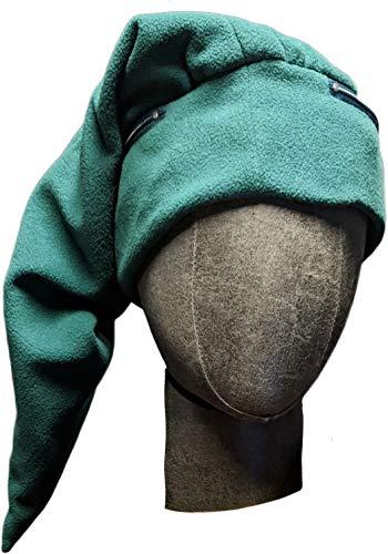 Link Cap Chemo Cap Green Beanie Legend of Zelda Elf Hat with Hidden Pockets ()