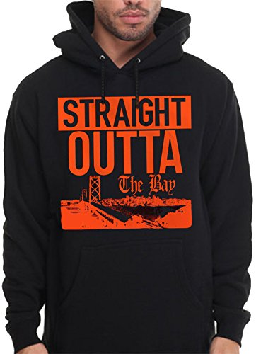 CaliDesign Men's Straight Outta The Bay Area Hoodie SF City Pullover Sweatshirt, Extra Large - XL - Bay Area Blend