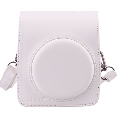 CAIUL Compatible Comprehensive Protection Mini 70 Case Bag With Soft PU Leather Material for Fujifilm Instax Mini 70 Camera - White