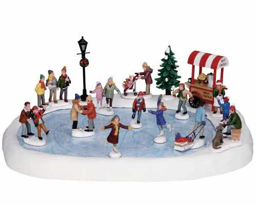 Lemax Village Collection Village Skating Pond with Adaptor # 94048 by Lemax