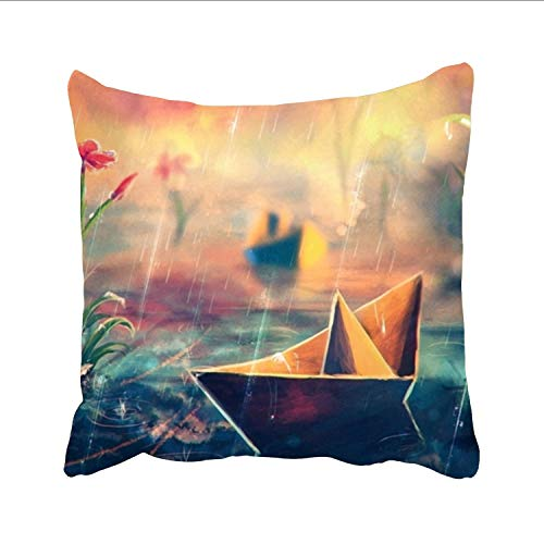 Dolores Joule Art Rain Art Pillowcase -Pillowcase with Zipper, Pillow Protector Cover Cases one sided (Dreamsack White Pillowcase)