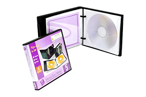 Unikeep Cd / Dvd - UniKeep Disc 5 CD/DVD Wallet with Pages - Case of 30 (Black)