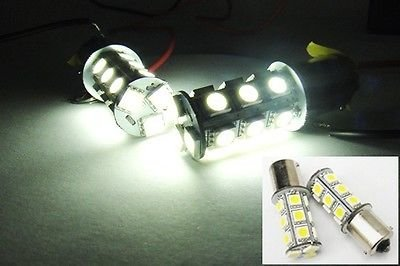 LEDIN 2x 1156 High Power 18 SMD LED Back Up Reverse Light BA15s P21W 7506 White (71 Chevelle Led Tail Lights)