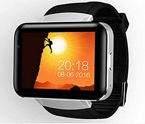 DM98 Video Call Smart Watch MTK6572 Android 5.1 3G Smartwatch 900mAh Battery 512MB Ram 4GB ROM Camera WiFi GPS Gift (BLACK)