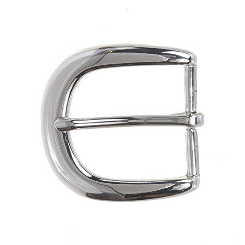"""1 1/4"""" (34 mm) Nickel Free Single Prong Horseshoe Belt Buckle, Silver from beltiscool"""