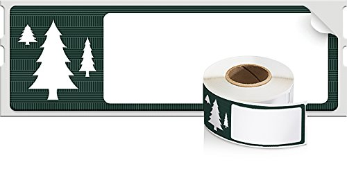 DYMO LabelWriter Holiday Address Labels, Limited Edition, Tree, 1-1/8 x 3-1/2