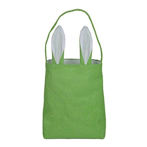 Hantajanss Easter Gift Bag Dual Layer Bunny Ears Design Jute
