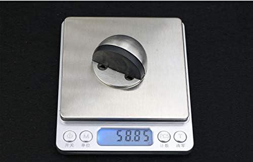 304 Stainless Steel Heavy Duty Brushed Finish Set of 8 NUZAMAS Door Stop Rubber Bumper Floor Mounted Door Stopper