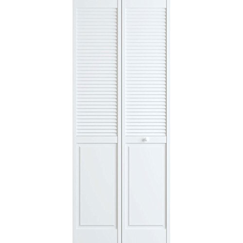 Classic Louver/Panel Bifold, White, 30