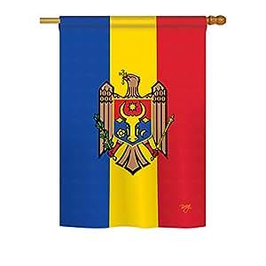 """Moldova Heritage Large Flag 28""""x 40"""""""