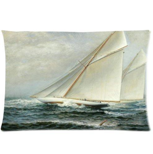 Buythecase Unique Fashion Pillowcase Design sea yacht regatta Size 20 X 30 inch custom pillow cases(one side print 2 way cloth)