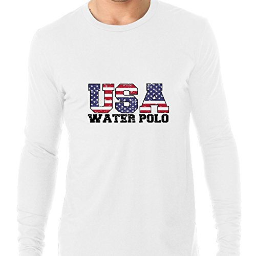 USA Olympics - Water Polo - Vintage Letters Men's Long Sleeve - Polo Olympics