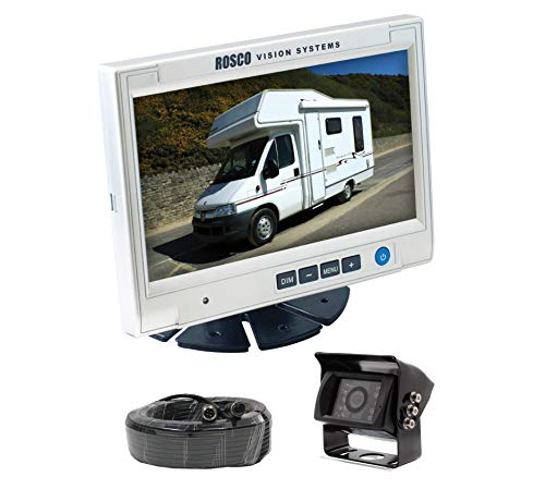 Rearview Backup Camera System Complete with 7-inch Color Monitor, Weather Proof Camera, 65-ft Harness. (Weather Camera)