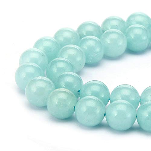 Top Quality Lab Created Blue Amazonite Gemstone 8mm Loose Round Gems Stone Beads 15 inch for Jewelry Craft Making GS11-8