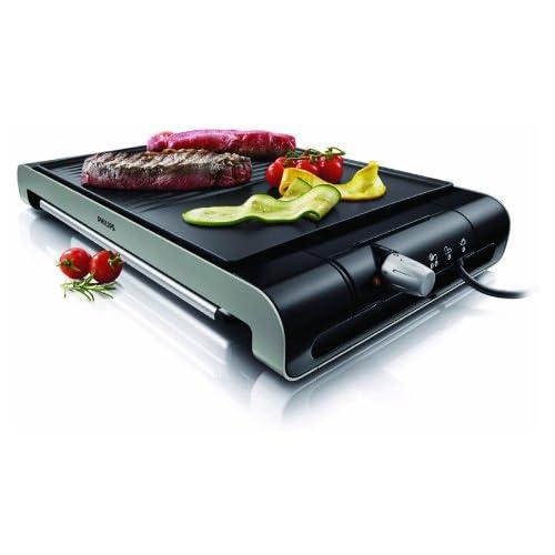 chollos oferta descuentos barato Philips HD4419 20 Plancha de Asar 2300 W Doble superficie Antiadherente Apto Lavavajillas Color Negro