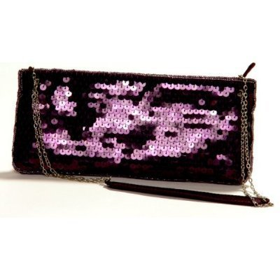 Plum Handbags Sequence Evening LaRegale Purse Clutch 7wqU6Fx4