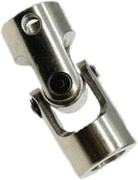 Basic Cellphone Cases CNC Parts Coupler 2/3/3.17/4/5/6/8/10mm Shaft Coupler for Motor Connector Metal Universal Joint Coupling Steering (Inner Diameter : 6mmx6mm)