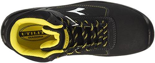 Diadora D-Blitz Hi S3, Zapatos de Trabajo Unisex Adulto Negro (Nero)