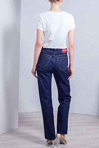 Donna Klein Alta Taglia Vita Calvin Scuro 31 Jeans Lavaggio Blu Dritti A qEwwZYd