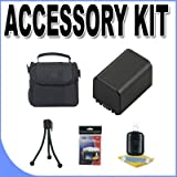 FH100 Lithium Ion Replacement Battery w/ Carrying Case BigVALUEInc Accessory Saver Bundle f/ Sony Camcorders
