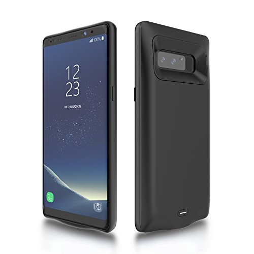 Galaxy Note 8 Battery Case, External Battery Case, 5500mAh Portable Backup Battery Charger, Cover Case for Samsung Galaxy Note 8, Rechargeable Power Bank Case(Black)