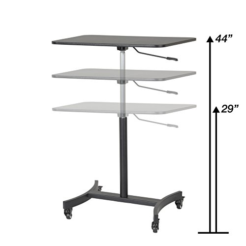 Victor High Rise Collection DC500 Mobile Adjustable Standing Desk