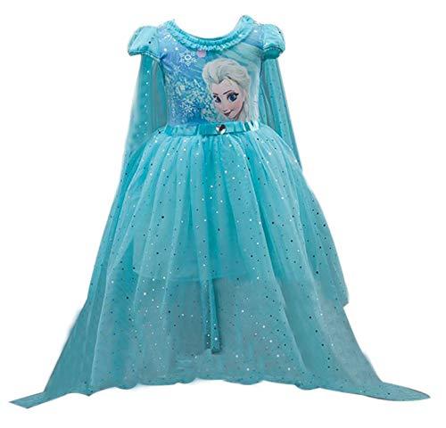 Eyekepper Short Sleeve Princess Dress Birthday Party Tutu Dresses Ligth Blue -