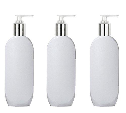 White 8 Oz Pump Bottle - 8