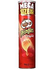 Pringles Mega Can Original Flavour Potato Chips, 194 Grams