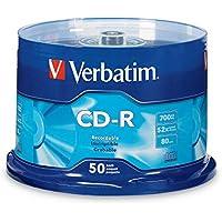 Verbatim 94691 CD-R 700MB 80 Minute 52x Recordable Disc - 50 Pack