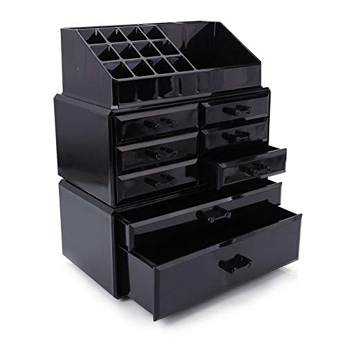 Monarch File Hanger Open (Werrox Acrylic Cosmetic Organizer Large 8 Drawer Makeup Case Storage Jewelry Holder Box | Model JWRLBX - 175)