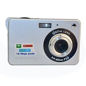 GordVE KG15173 2.7inch 18MP Mini Digital Camera 8x Digital Zoom Silver Color