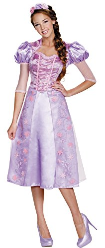 UHC Disney Princess Rapunzel Deluxe Outfit Womens Fancy Dress Halloween Costume, Plus (18-20) (Mascot Costume Disney)