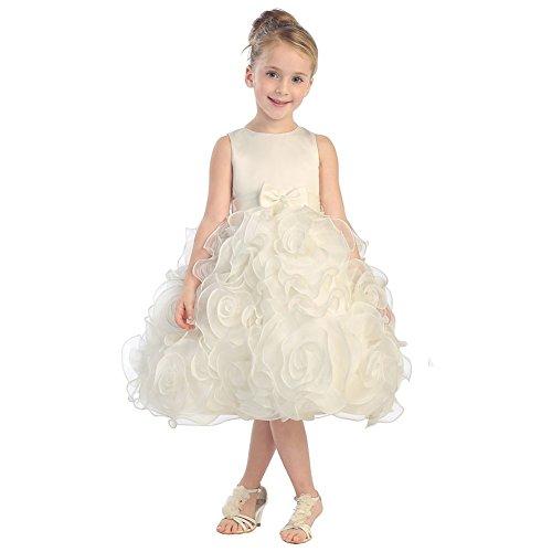 3d embellished flower dress - 7