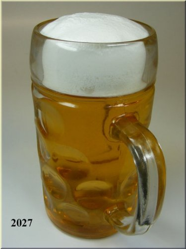 Masskrug Attrappe 1 Liter, Bierkrug aus Glas - Geschenkidee und Souvenier zum Oktoberfest, Maßkrug das Original von ERRO als Geschenkidee. Oktoberfest - Getränke-Attrappe
