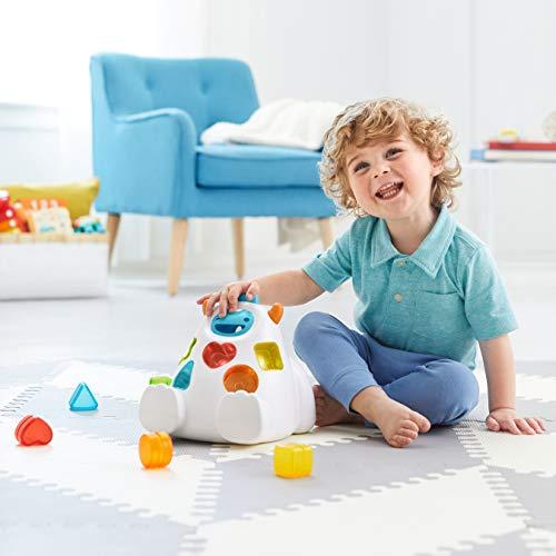 41 UmtegvlL - Skip Hop Yeti Shape Sorter Explore & More 3-Stage Spinning & Sorting Developmental Learning Toddler Toy