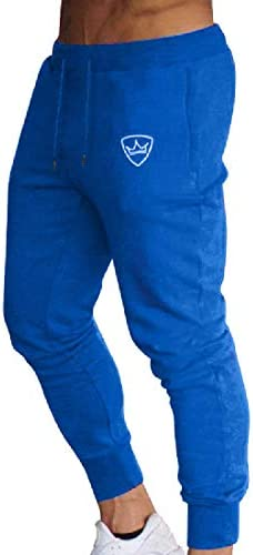 Romancly メンズコットンリラックスフィットストレッチ巾着スポーツジョガーパンツ