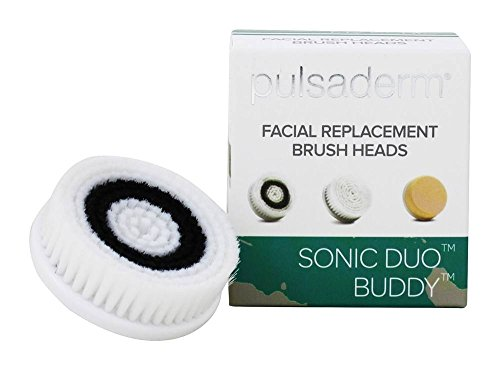 Pulsaderm - My Sonic Duo Buddy Normal Skin Facial Replacement Brush Heads - 2 Count