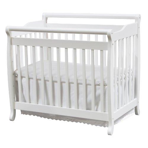 davinci emily 2 in 1 mini crib and bed in white