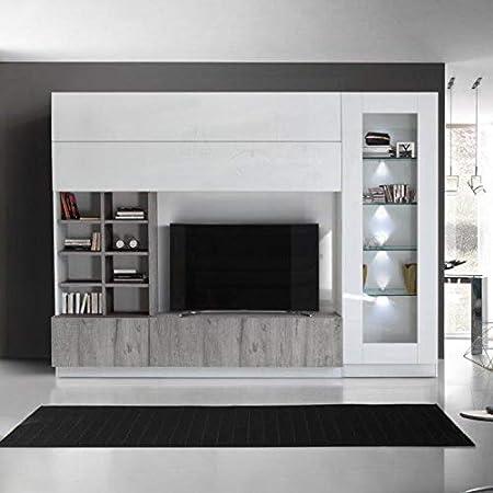 Parete Attrezzata Porta Tv Moderna.Arredocasagmb It Parete Attrezzata Porta Tv Bianco Lucido Moderno