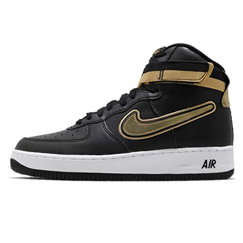 (Nike Air Force 1 High '07 LV8 Sport Men's Shoes Black/Mettalic Gold/White av3938-001 (9.5 D(M) US) )