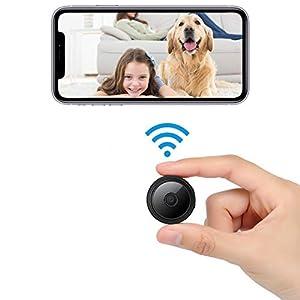 Flashandfocus.com 41-Uo7oYmML._SS300_ Mini Spy Camera Hidden Camera Video Recording with Auido, Night Vision Motion Detection, 1080P Home Security Camera…