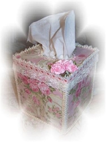 Teapots, Teacups, and Lots of Pink Chic Roses Tissue Cover