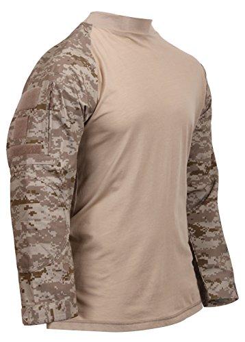 (Rothco Tactical Airsoft Combat Shirt, L, Desert Digital)