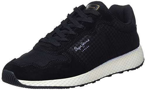 Femme Pepe Koko 999 Noir black Baskets Basses Jeans Gales HqUxPXwqz7